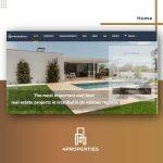 تصميم و تطوير موقع 4properties للإستشارات العقارية